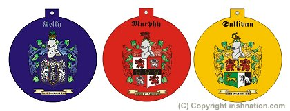 Family Crest Flat Christmas Tree Ornaments