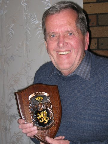 John Griffin happy with his Griffin Plaque