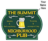 Neighborhood Pub Sign