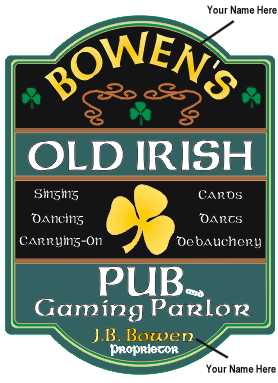 Old Irish Pub Sign