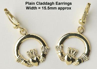 Plain Claddagh Earrings