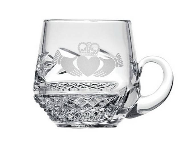 Galway Crystal Claddagh Christening Cup