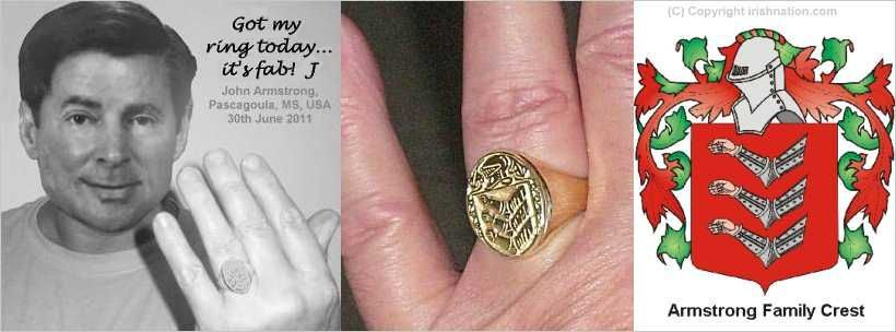 Family Crest Coat Of Arms Rings And Jewellery Jewelry