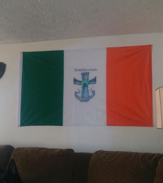 Family crest flags, coat of arms flags displaying your family
