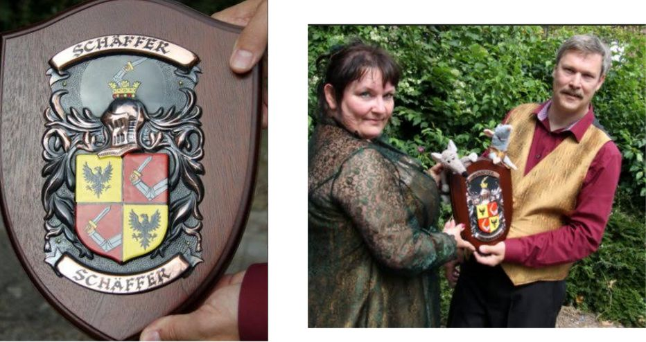 Family Crest Plaque with your coat of arms on the shield